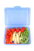 Healthy vegetarian lunch box — Stock Photo