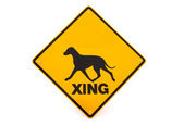 Dog warning sign — Stock Photo
