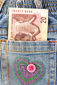 African pocket money — Stock Photo
