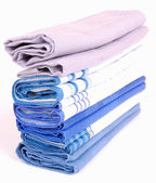 Stack of handkerchiefs — Stock Photo