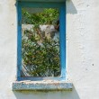 Old window frame — Stock Photo