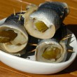 Pickled rolled fish — Stock Photo