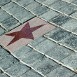 Star on tiles — Stock Photo
