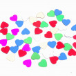 Glitter hearts — Stock Photo