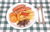 German Oktoberfest meal — Stock Photo
