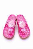 Roze sandalen — Stockfoto