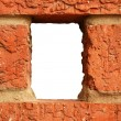 Hole in brick wall — Stock Photo