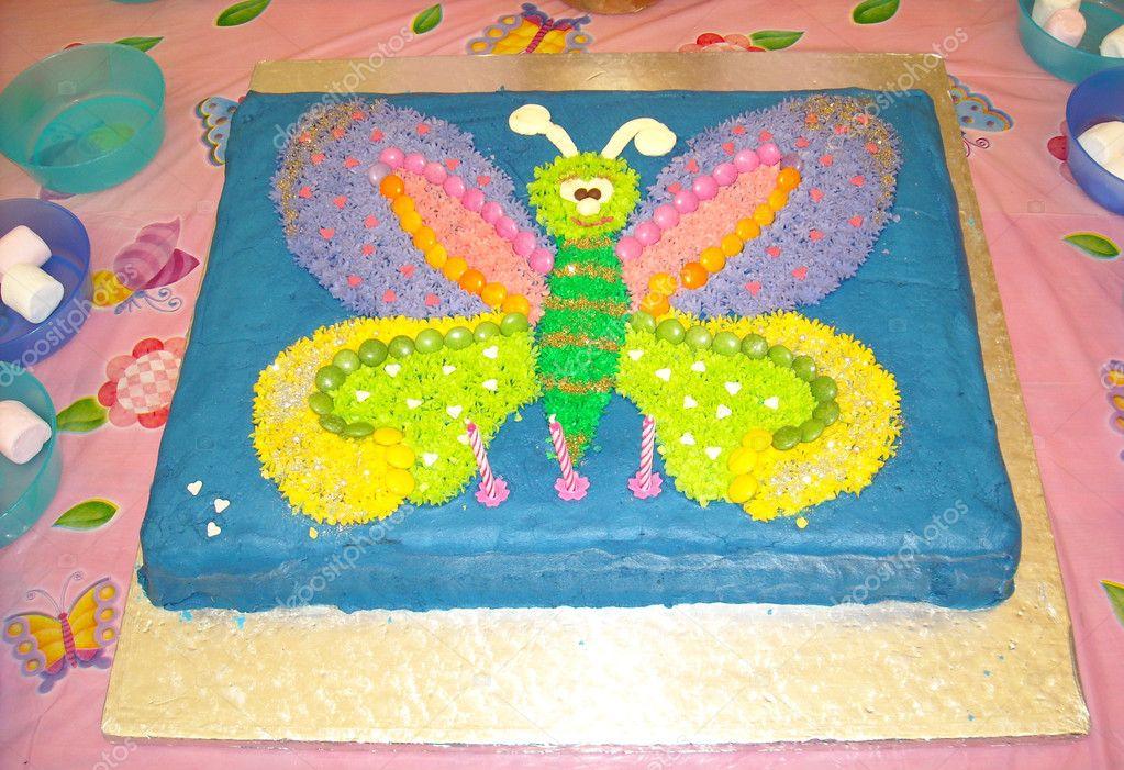 Mariposa pastel de cumplea os para ni os foto de stock - Bizcocho cumpleanos para ninos ...