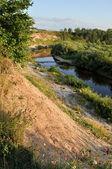 Закат на реке — Стоковое фото