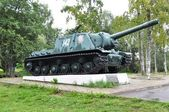 Historical Tank ISU-152 in Priozersk — Stock Photo