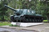 Historical Tank ISU-152 in Priozersk — Stock Photo