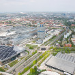 Aerial view of Munich city - Stock Photo