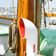 Stock Photo: Air vent on boat