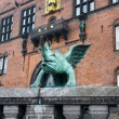Statue outside city hall in Copenhagen — Stock Photo #7256095