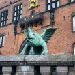 Statue outside city hall in Copenhagen — Stock Photo