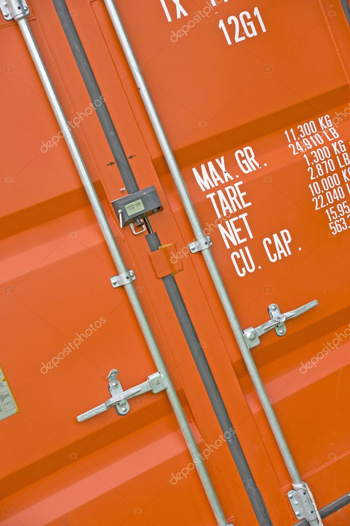 Red cargo container — Stock Photo #7255893