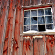 A small wooden shed with window — Stock Photo