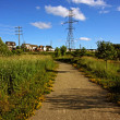 Stock Photo: Walking Trail in Neighborhood