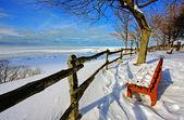 Escena de invierno en un lago — Foto de Stock