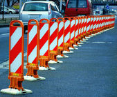Barrier on street — Stock Photo