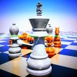 Chess battle -defeat — Stock Photo