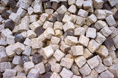 Large heap of stacked cobbles — Stock Photo
