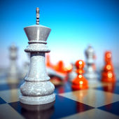 Chess battle -defeat — Stock Photo
