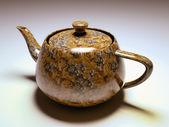Travertine tobacco teapot — Stock Photo