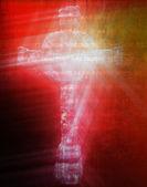 Keltiskt kors isolerade — Stockfoto