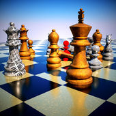 Chess battle - defeat — Stock Photo