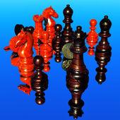 Шахматы битвы - поражение — Стоковое фото