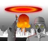 Nucleaire explosie — Stockfoto