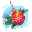 Stock Vector: christmas  ball&quot