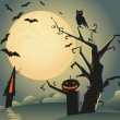 Royalty-Free Stock Vektorov obrzek: Halloween background