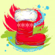 Royalty-Free Stock Vector Image: Santa boot