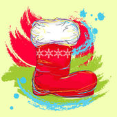Santa boot — Stock Vector