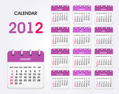Calendar 2012 new — Stock Vector