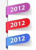 2012 labels — Stock Vector