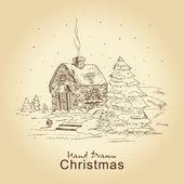 Cartão de natal vintage — Vetorial Stock