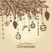 Christmas fur tree — Stock Vector