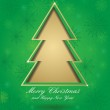 Christmas green card with tree — Stock Photo