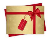Christmas gift card — Stock Vector