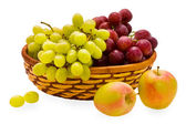 Apple and grape — Stock Photo