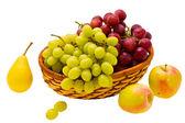 Pear apple and grape — Stock Photo