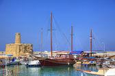 Старый habour на Кипре — Стоковое фото