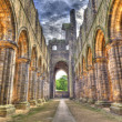 Historic ruins of Medieval Abbey - Stock Photo