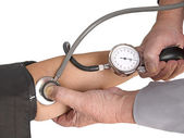 Measuring the blood pressure. Isolation — Stock Photo