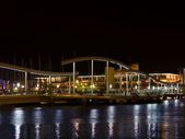 Barcelona port w nocy — Zdjęcie stockowe