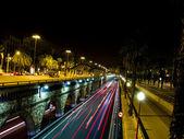 Desenfoque de las luces de tráfico — Foto de Stock