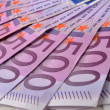 Stock Photo: 500 Euro money banknotes